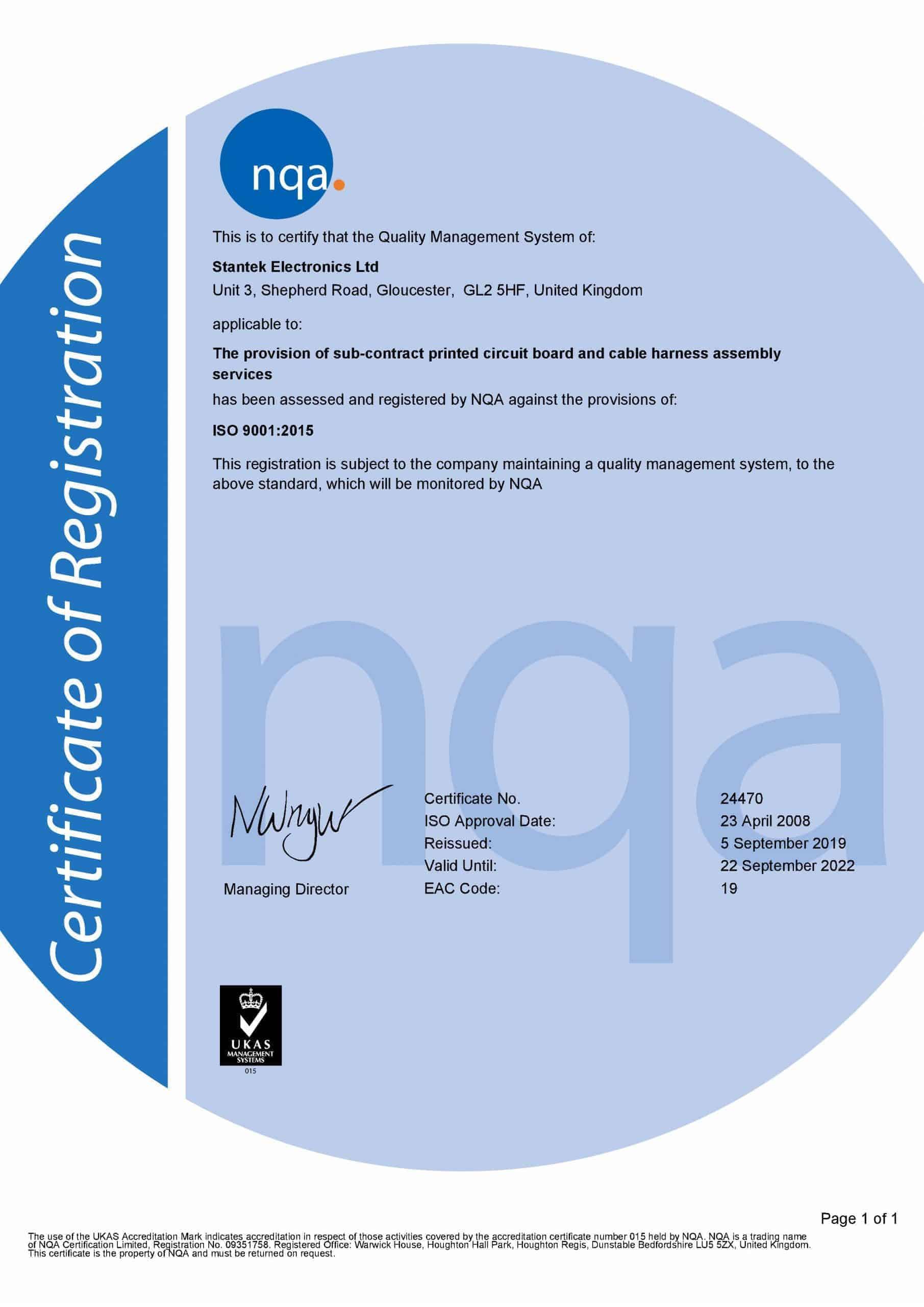 nqa certificate of registration